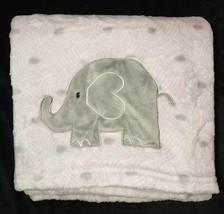 Baby Starters Pink Gray Elephant Fleece Blanket Lovey Girls Circles 30x40 EUC - $17.42