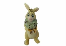 Walt Disney Christmas Ornament Winnie Pooh Figurine Lenox Porcelain Rabb... - $23.17