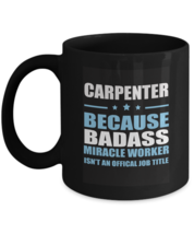 Personalized Birthday Coffee Mug For Auncle, Uncle - CARPENTER Because B... - $18.95