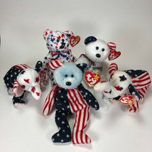 Beanie Babies Lot, USA Patriotic, Ty, Excellent condition with tags - $8.95