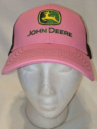 John Deere LP27741 Pink And Brown Mesh Summer Baseball Cap