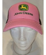 John Deere LP27741 Pink And Brown Mesh Summer Baseball Cap - $13.99