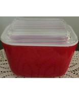 """Vintage PYREX ~ """"Red"""" Refrigerator Dish ~ 0501 ~ With Lid 501-C ~ (15) - $34.65"""