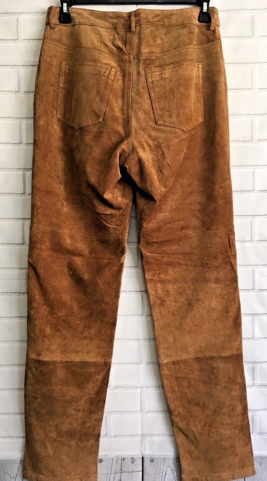 Men's New Western Brown Goat Suede Leather Cowboy Pant WP29 image 3