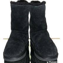 UGG Australia 1019633 Marice Classic 8 Black Suede Zip Women's Boots New Insoles - $74.45
