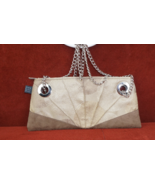 1154 Lill Studio Handbag Chain Shoulder bag!  Browns Taupe  Cream - $19.82