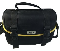 Nikon Soft Padded SLR DSLR Camera Bag Yellow Trim & Dividers - $17.81