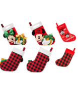 Disney Store Minnie Mickey Mouse Plush Christmas Stocking Red Green 2017 - $65.96