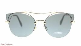 Miu Miu Women's Sunglasses MU52SS ZVN1A1 Pale GOLD/GREY 62mm Authentic - $189.15