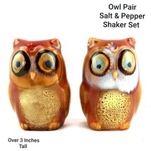 Salt and Pepper Shaker Set Owl Couple 3 Inches Tall Decorative Collectibles - $8.51