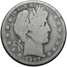 1897O Silver Barber Half Dollar Coin Lot A 345