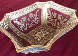 Lovely fine porcelain Andrea by Sadek decorative bowl trimmed in gold. - £14.19 GBP