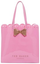 Ted Baker London EVECON Bow Scallop Edge Large Icon Pink Bag - $44.00