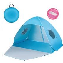 iCorer Extra Large Pop Up 3-Person Beach Tent, Light Blue - $61.51 CAD