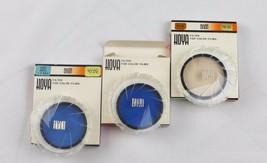 Vintage Hoya camera filters 52.0s type flood 80B 81A 80A set of 3 japan  - $21.13