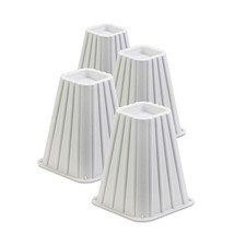 Honey-Can-Do STO-01006 Stackable Bed Risers, 4-Pack, White - $19.63