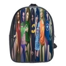 Backpack School Bag Girl Beauty & Sexy Woman With Marvel Heroes Custume ... - $33.00