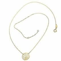 Halskette Gelbgold 750 18K, Baum des Lebens Zentrale, Kette Rolo Eckig - $163.31
