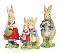 Easter Bunny Rabbit Figurines Adorable Bunny Family for Spring Decor - S... - $41.98