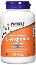 NOW L-Arginine 1000 mg, 120 Tablets - $29.99+