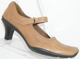 Kenneth Cole Reaction Walk On By brown leather square toe mary jane heel 8M - $31.47