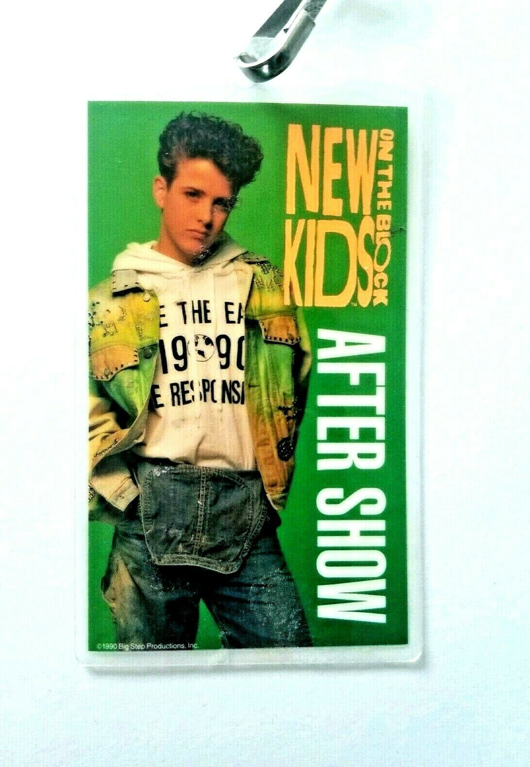 Primary image for VTG New Kids On The Block After Show Crew Backstage Pass Lanyard Joey McIntyre