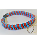 Paracord 550 Dog Collar Red and Blue Fish Tail Design Black Quick Releas... - $15.00