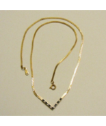 Avon Galaxy Of Color Necklace ~ Herringbone Chain with Simulated Sapphires - $13.99