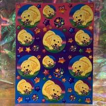 Lisa Frank Complete Sticker Sheet S209Casey Rainbow Star Tennis Balls Rare