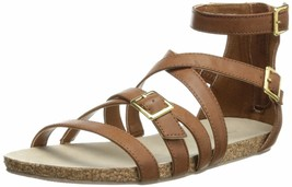 Madden Girl Women's Effort Gladiator Sandal 7.5 Cognac - $40.10