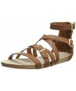 Madden Girl Women's Effort Gladiator Sandal 7.5 Cognac - $40.10
