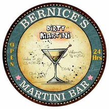 BERNICE'S Martini Bar Round Metal Sign Kitchen Bar Game Wall Décor R1410... - €22,04 EUR+