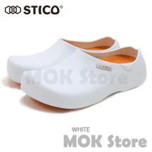 STICO NEC-03 Men Chef Shoes Clog Kitchen Non-Slip Safety Shoes Oil&Water Rubber image 1
