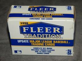New! Sealed! 1998 Fleer Tradition Update Baseball Set of 100 Free Shipping MLB - $10.88