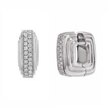 Salvini 18K White Gold 0.68 Cttw Diamonds Huggie Ladies Earrings 15.5 g - $1,339.00