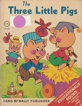 The Three Little Pigs 1969 Start Right Elf Book Anne Sellers Leaf - $6.92