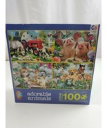 Ceaco Kids 4 In 1 Adorable Animals Jigsaw Puzzles ages 5+ 100 pieces  - $12.54