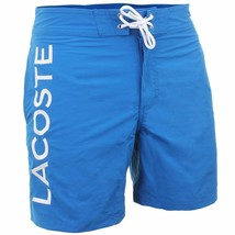 BRAND NEW LACOSTE MEN'S PREMIUM SURF SWIM TRUNKS BOARD SHORTS LASER BLUE