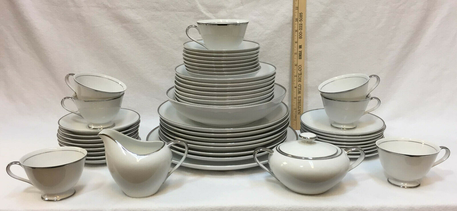 Dishes Set Empress China White W Silver And 50 Similar Items
