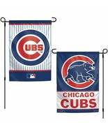 """CHICAGO CUBS 2 SIDED 12""""X18"""" GARDEN FLAG NEW & OFFICIALLY LICENSED - $11.60"""