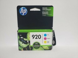 HP 920 Tri-Pack Cyan Magenta Yellow Jaune Ink Cartridges  #3548 - $15.90