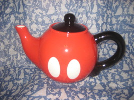 Disney Parks Mickey Mouse Pants Ceramic TeaPot Tea Pot. New. - $29.47