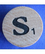 WordSearch Letter S Tile Replacement Wooden Round Game Piece Part 1988 P... - $1.45