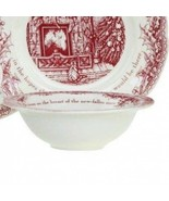 """Johnson Brothers Twas the Night Before Christmas 5 CEREAL BOWLS NEW 6"""" - $69.29"""