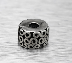 Authentic Pandora 925 Sterling Silver #790338 S Clip Bead Charm - $19.95