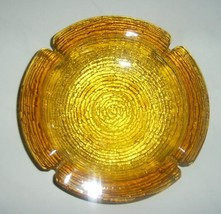 Vintage  Anchor Hocking Amber GLASS Heavy LARGE Collectible ASHTRAY - $13.59
