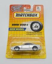 Matchbox 1993 MB49 BMW 850-I 850i Silver MOC Die Cast Metal Tyco Toys #1749 - $19.68