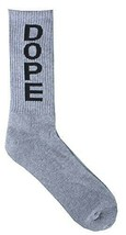 Dope Couture Superior Acrylic/Cotton Blend Grey Ankle Crew Socks NEW