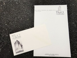 antique HOTEL TAFT LETTERHEAD/ENVELOPE times square ny ALFRED LEWIS  MGR... - $18.95
