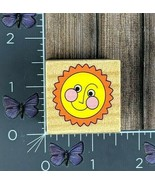 Melissa and Doug Sun With Smiling Face Rubber Stamp Wood #Q36 - $1.24